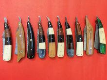 Custom Hand Made Damascus Blade Shaving Razor Set (Lot of 10)