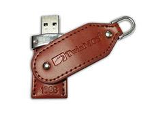 16GB TwinMOS Leather Series USB Flash Drive- L2 Premium Brown