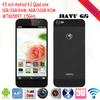 "Original Jiayu G5 mobile phone MTK6589T Quad core Smartphone 1GB+4GB/2GB+32GB 4.5"" IPS Gorilla glass screen"