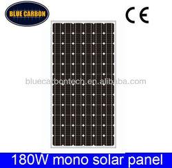 180W price per watt home use monocrystalline solar panel