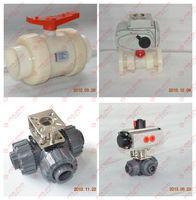 Plastic water irrigation electric motor ball valve