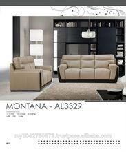 MONTANA- AL3329 NEW DESIGN LEATHER SOFA SET