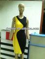 2014 amarelo e preto sexy party vestido bandage hl577