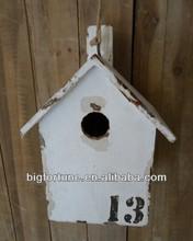 Decoración shabby chic jardín de madera de keychain del birdhouse