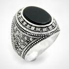Silver Men's Marcasite Ring - Petek Silver Jewelry