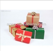 Colorful paper gift box with bow tie meet your requirements