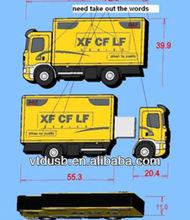 Nice custom number shape pvc usb flash driver pens for promo truck lorry thumb pens