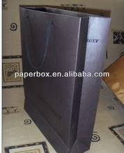 black hot stamp texture paper bag eurotote paper bag