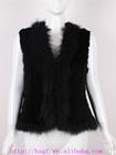 women rabbit fur knitted vest jacket fashion garment