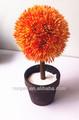 artificial lifelike bola laranja vaso bonsai feliz com o preço da china fornecedor