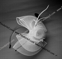 White Big Bow Hair Bands Wedding Headbands Princess Hair Accessory(OHAR-A001-8)
