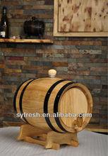 0.75L Black Hoop Oak Wine Beer Liquor Barrel