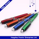 Metallic colored ballpen, promotional plastic pen, logo pen