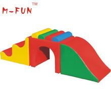 comfortable indoor children soft play climbing slide toys