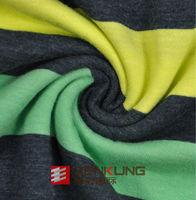 CVC Color-Stripes Single Jersey fabric