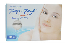 Facial cotton pad - pressed edge (100pcs)