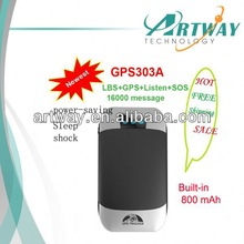 Artway Geo-fence and Sos button gps radar detector TK303A GPS303