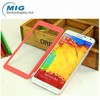 New product windows view leather case for samsung note 3