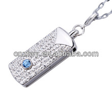 full capacity jewelry usb thumb drive,low cost jewelry usb flash with chain