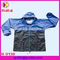 170 T 0.18 mm poliéster / PVC de la chaqueta de lluvia