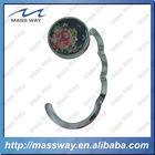 flower shape foldable metal bag holder hook
