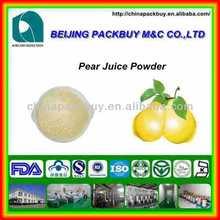 Alta calidad y precio más bajo 100% natrual pera concentrado de jugo en polvo