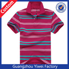 2014 OEM High Quality Color Stripe Polo T Shirt Wholesale China