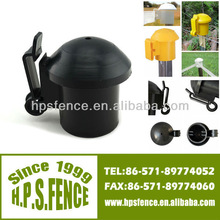 (China Manufacturer) Hot Wood plastic T-post cap/plastic T-post galvanized lid Wire Insulator For Electric Fence