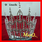 Large tall pageant tiara, beauty rhinestone pageantl crown, sizes available