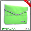 Gearmax Factory High Quality Green Waterproof and Shockproof Neoprene Envelope Laptop Sleeve Case for iPad 2 3 4
