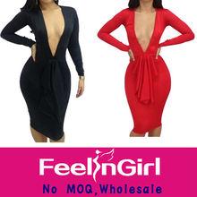 Wholesale no moq beautiful mature women bandage dress