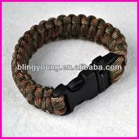 Paracord survival bracelet supplies