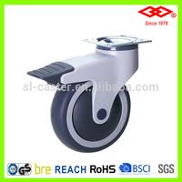 100mm swivel locking caster wheel(P503-39E100x32CS)