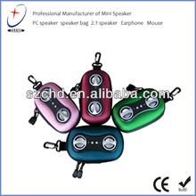 2014 Newest eva speaker case with eva holder double zipper eva bag in high end design factory direct