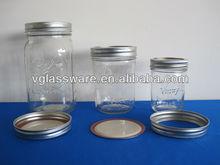 De vidro do frasco com folha de flandres CAP