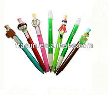 Cartoon Novelty Cute Clip Popular Plasitc School Balll Pen