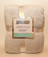 Plush Blanket Throw CAMEL/SAND - KING - NEW IN PACKAGE
