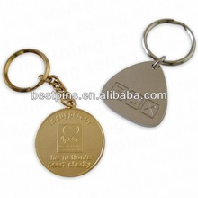 Brass stamp Relief Gold And Nickel Plated Key chain (BT-AM-MK-14306163)