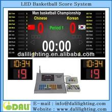 Maintenance Free P10 full colour led basketball scoreboard