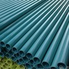 Extruded bright green plastic pipe 25mm for decoration