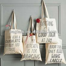 PG600 Girl Cotton Slogan Printing Bag