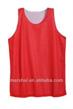 Sublimation Printing Logo Red White Basketball Uniform Cheap Reversible Basketball Jerseys