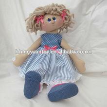2014 muñeca de trapo suave muñeca de 18 pulgadas american muñeca de alta calidad de diseño personalizado