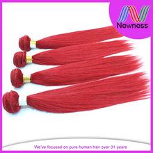 charming sleek red highlighted virgin hair extension