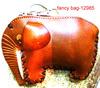 handmade genuine cow leather coin purse girls elephant china handbag wallet