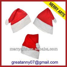 Yiwu Manufacturer Cheap Crochet Wine Christmas Bottle topper santa hat mini plush hats wholesale