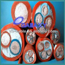 mine metallic shield PVC power cable