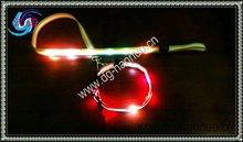 2014 nylon 6 LED illuminated super bright pet dog collar with high quality