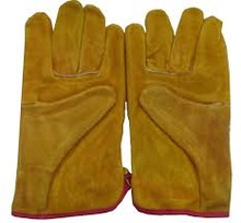 ORIGINAL 100% GOAT/SHEEP LEATHER TOP HIGH CLASS QUALITY WORKING GLOVES CHEAP RATES