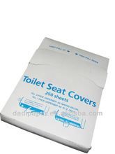 Disposable paper 1/4 folded paper toilet seat cover